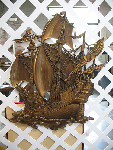 Vintage Syroco USA Sailing Ship Wall Decor