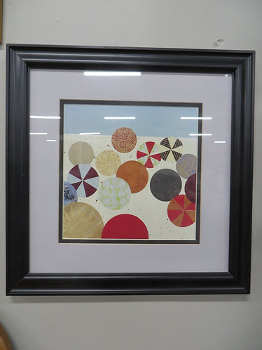 """Susan Gillette, Day at the Beach 2, Giclee Print in Frame, 14""""x14"""""""
