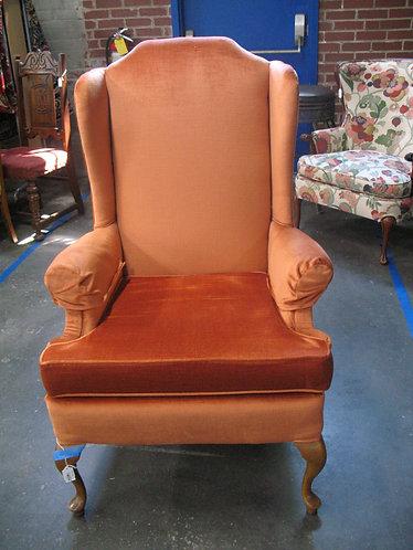 Vintage Queen Anne Tangerine Wingback