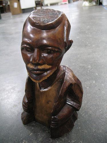 Vintage Hand Carved Man Bust Figure