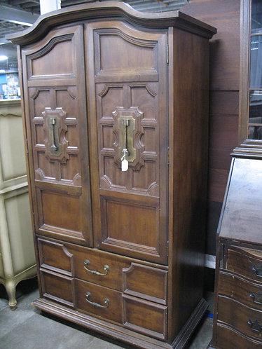 Vintage Stanley Furniture Pecan Armoire Dresser