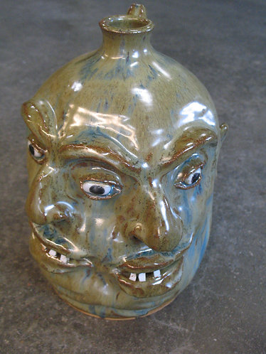Marvin Bailey Artist Signed Double Faced Ugly Face Jug