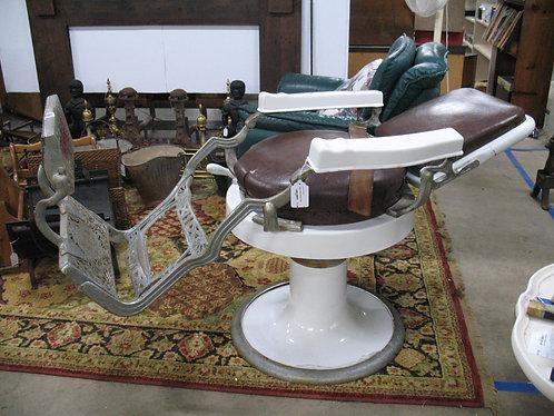 Antique Koken Hydraulic Reclining Barber Chair