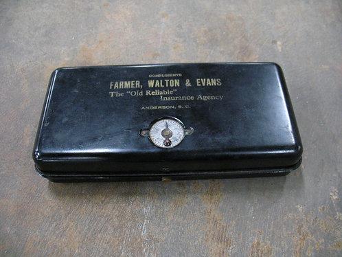 Vintage Farmer, Walton & Evans Anderson, SC Metal Document Box