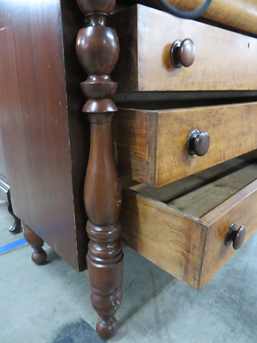 Vintage Empire Style Chest of Drawers with Glove Compartments