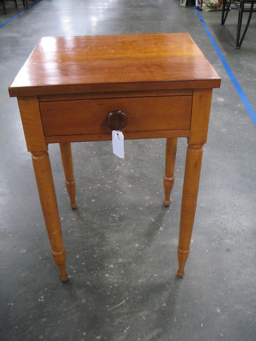 Antique One Drawer Side End Table