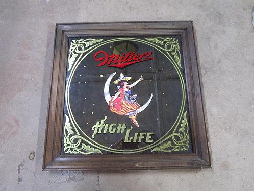 1980 Miller High Life Girl On The Moon Bar Mirror