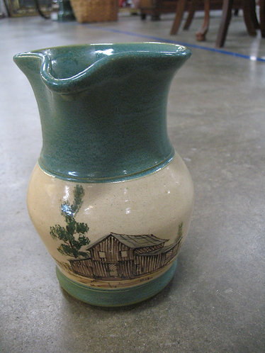 1989 Eugene Winton Old Barn Pottery Pitcher