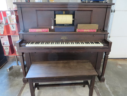 Vintage Player Piano with 40+ rolls, Forrest Mfrd by Cunningham Piano Co