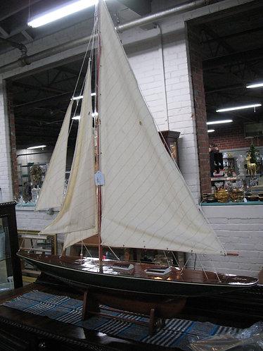 Oversized Wooden Sailboat Model