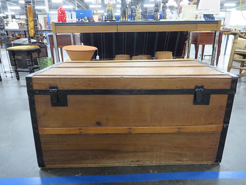 Antique Pre 1880s Trunk with Wooden Handles