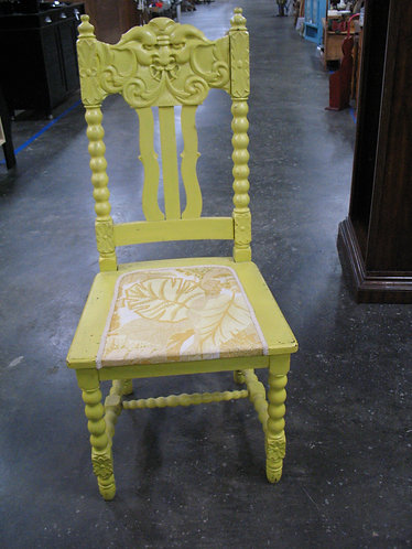 Antique Hand Carved North Wind Accent Chair