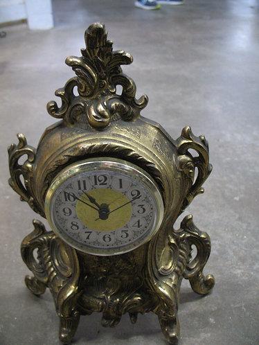 Vintage Metal Clock Case with Battery Quartz Movement