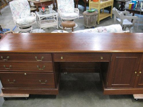 Oversized Wood Credenza Organizer Desk