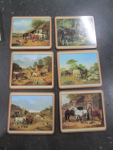 Vintage Pimpernel Acrylic Around the Farm Placemats Set of 6 with Original Box