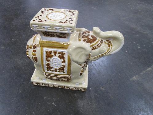 Small Ceramic Garden Elephant Pot Stand