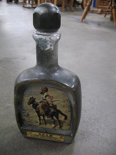 Vintage Jim Beam Frederic Remington Warrior Decanter Bottle