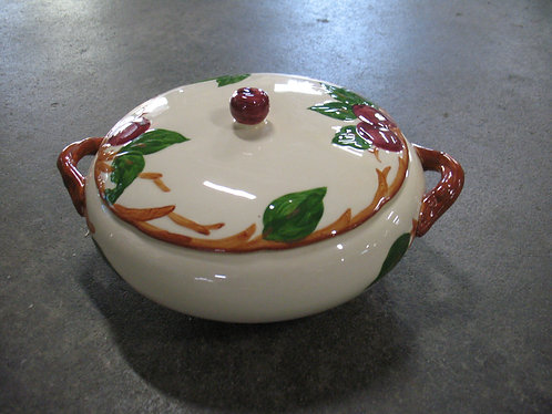 Vintage Franciscan American Apple Handpainted Casserole Dish with Lid