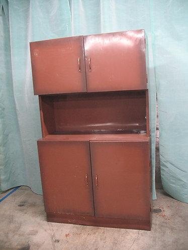 Mid Century Metal Garage Work Cabinet