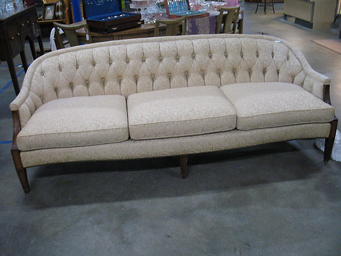 Vintage Henredon Schoonbeck Tufted Back Three Cushion Sofa