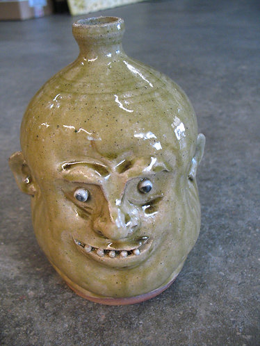 Marvin Bailey Artist Signed Baby Face Ugly Face Jug
