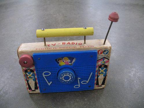 Vintage Fisher-Price Toys TV-Radio Toy