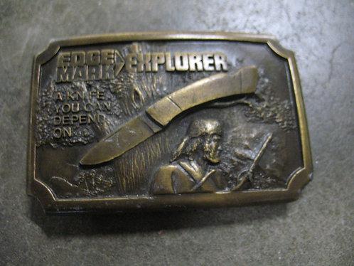 1977 Edge Mark Explorer Brass Belt Buckle