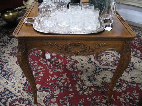 Vintage Henredon Lous XV Style Hand Carved Accent Table