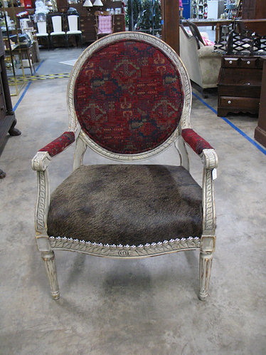 Custom Upholstered Farmhouse Boho Oversized Accent Chair