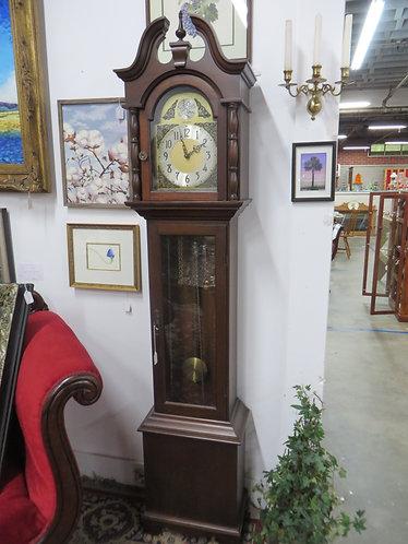 Vintage Herschede Hall Clock Company Tall Case Mahogany Clock