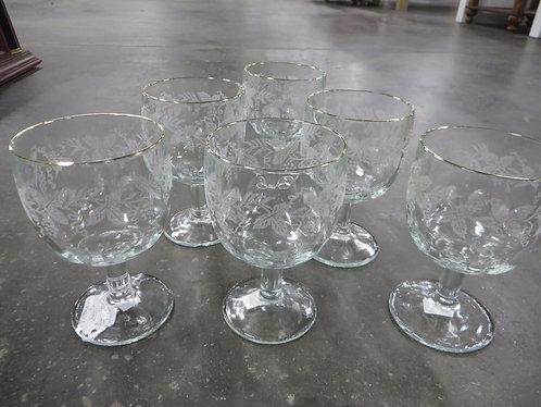 Vintage Summer Beverage Glasses Set of 6