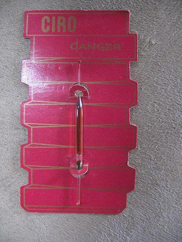 Vintage Ciro Danger Perfume Sample Card