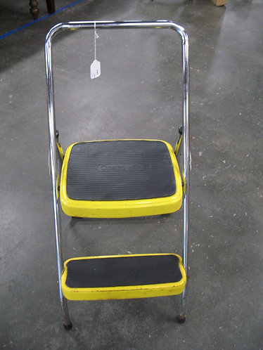 Vintage Cosco Yellow Folding Step Stool Ladder