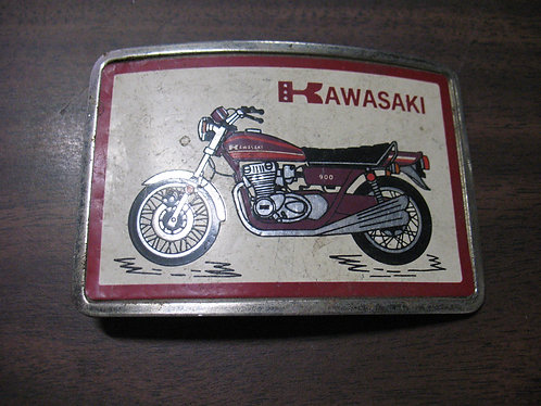 Vintage Kawasaki 900 Motorcycle Belt Buckle
