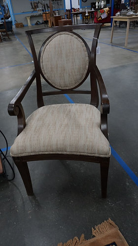 Wood Upholstered side chair, 1960s, 22x18, Chippendale