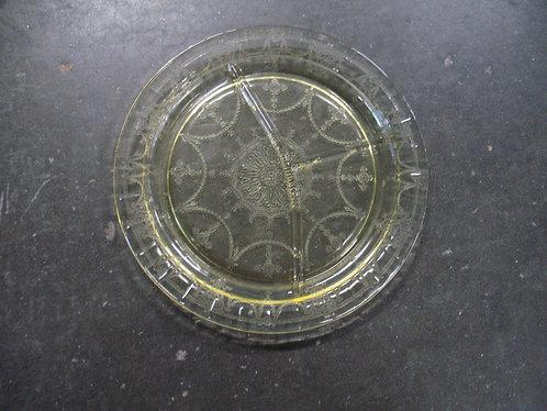 Vintage Amber Depression Glass Divided Dish