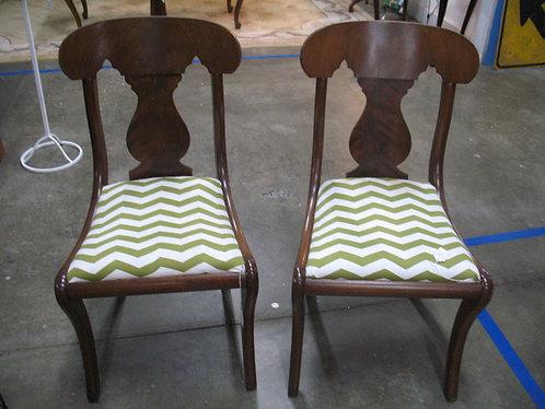 Vintage Biggs Solid Wood Side Chair Pair