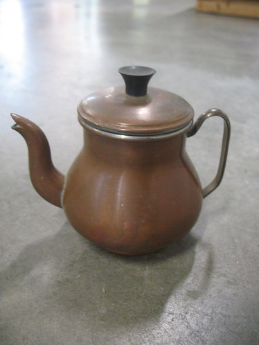 Vintage Made in Portugal Copper Petite Teapot