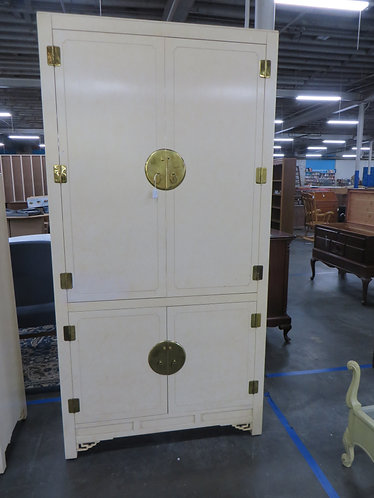 Vintage White Furniture Co. Oriental Style Armoire/Entertainment Center