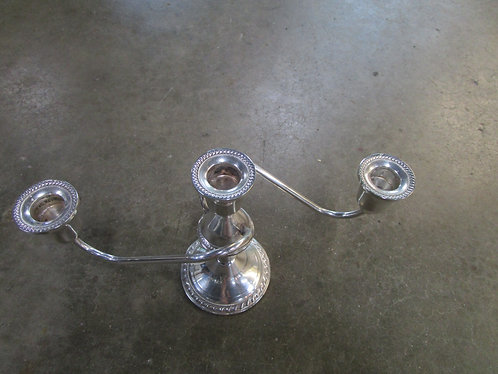 Vintage Duchin Creations Sterling Silver Three Arm Candleabra