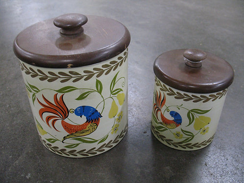 Vintage Ransburg USA Partridge in Pear Tree Canister Set