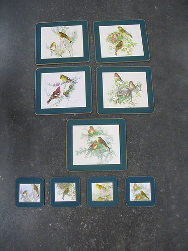 Vintage Gould & Richter Bird Table Mats and Coasters