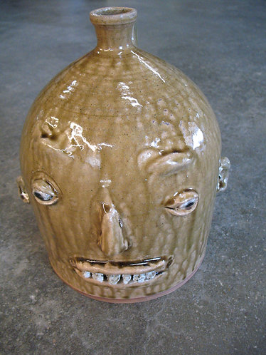 Marvin Bailey Artist Signed Ugly Face Jug
