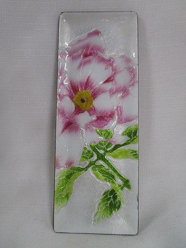 Ando Enamel & Metal Floral Pen Desk Tray