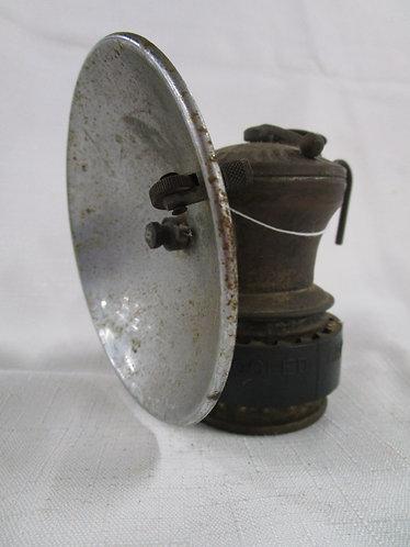 Antique Justrite Carbide Miners Hand Lamp