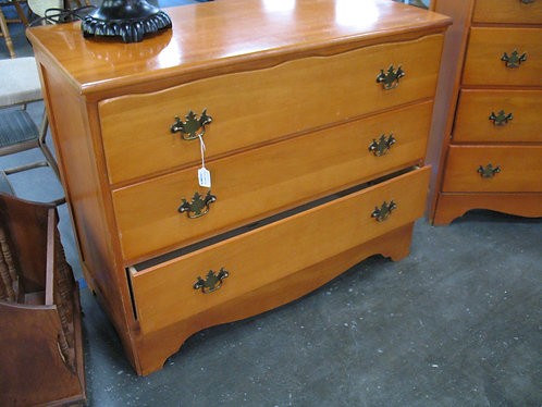Vintage Maple Three Drawer Dresser