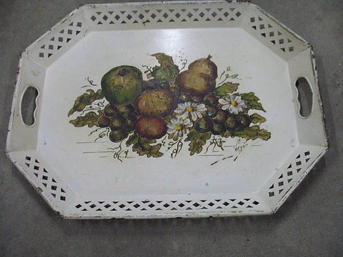 Vintage Nashco Signed Handpainted Fruit Tray