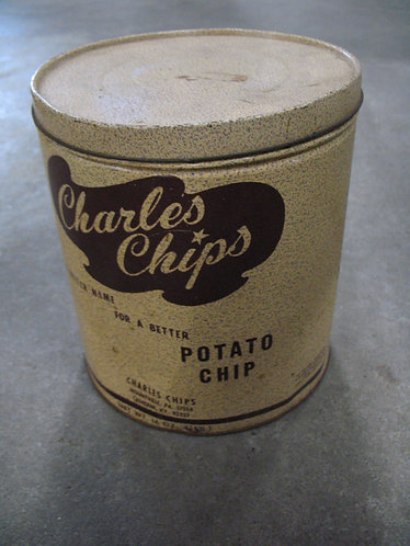 Vintage Charles Chips Calhoun KY Potato Chip Tin