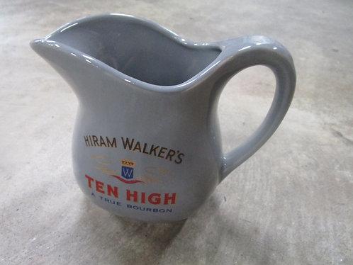 Vintage USA Hiram Walker's Bourbon Ceramic Small Pitcher
