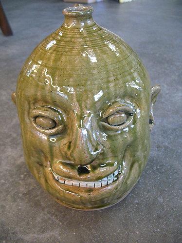 Marvin Bailey Artist Signed Smiling Ugly Face Jug